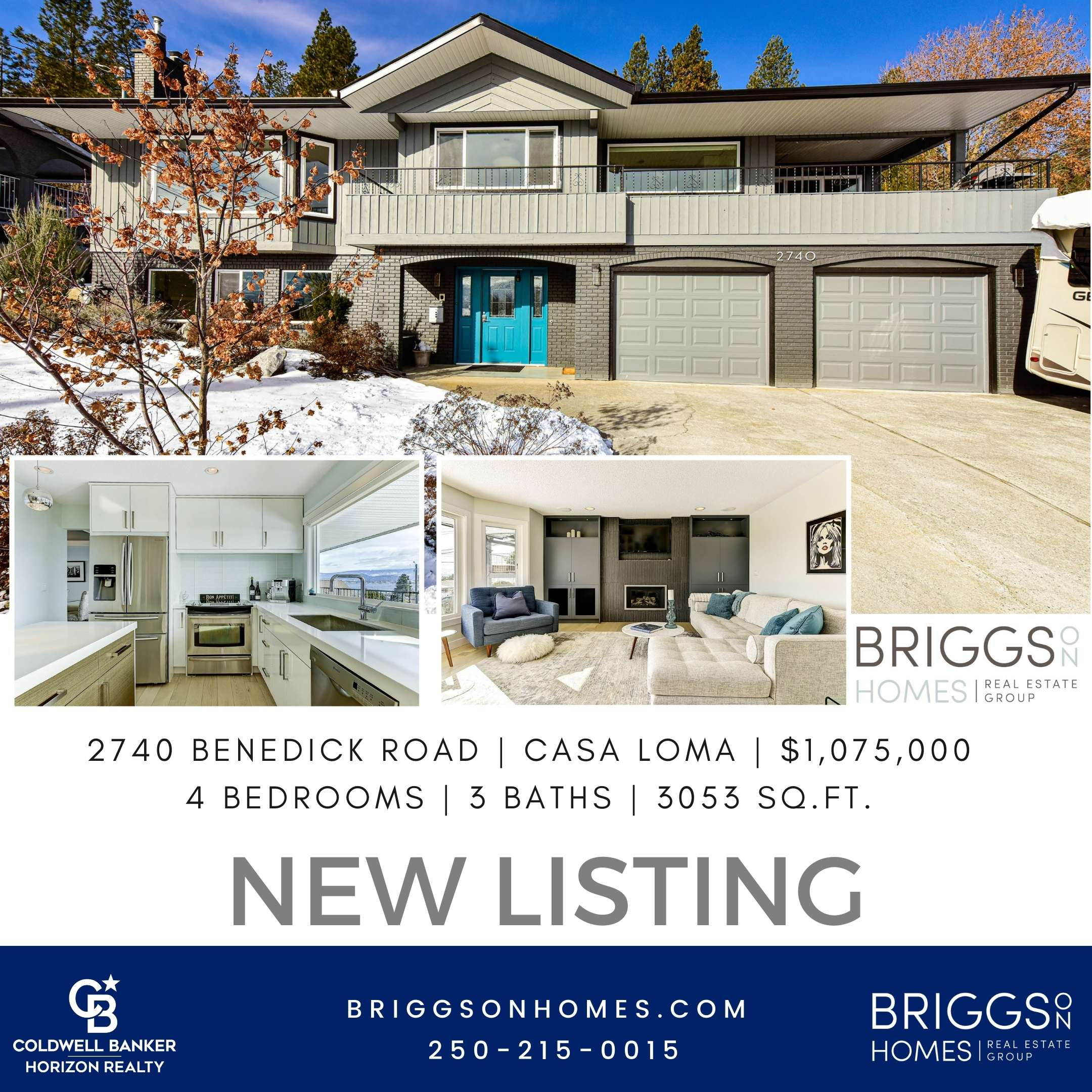 Just Listed 2740 Benedick Road